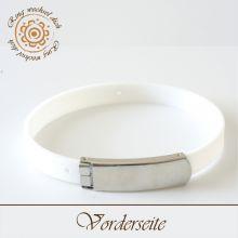 Wechsel-Armband aus Gummi weiß 0,8 cm