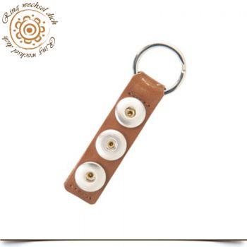 schwarz Schlüsselanhänger Chunks Leder für vier Druckknöpfe Click Button