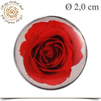KNOPF BUTTON ROSE in ROT
